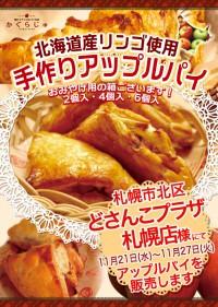 どさんこプラザ札幌店様にてアップルパイを販売します